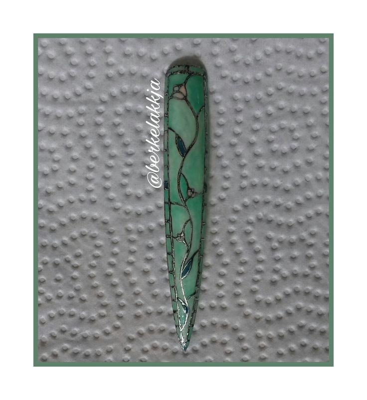 Stained glass nail art. Vitrázs köröm.