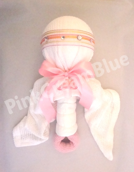 Pink Rattle Nappy Cake