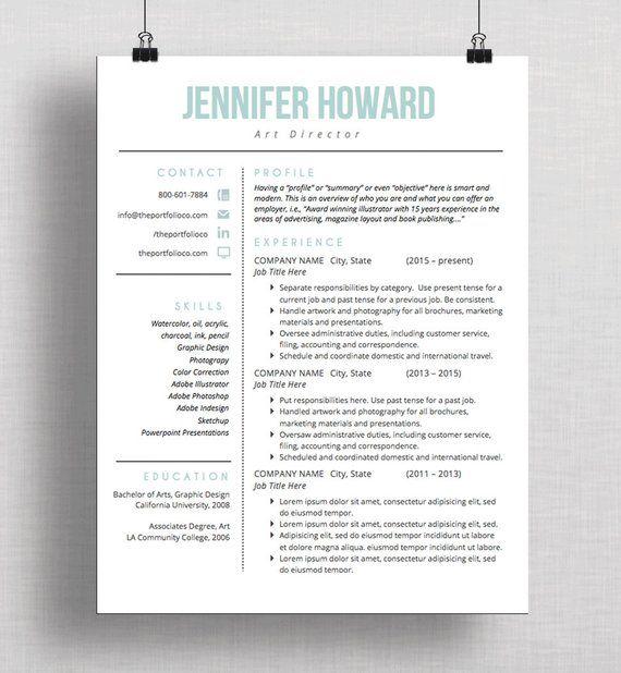 Modern Resume Template Cv Template Cover Letter Creative Resume Design Mac Or Pc Microsof Resume Tips Resume Design Professional Good Resume Examples