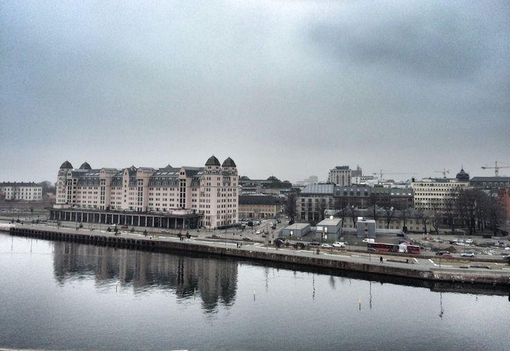 Oslo wiev from the Opera in Oslo ! Picture by @villatverrteigen