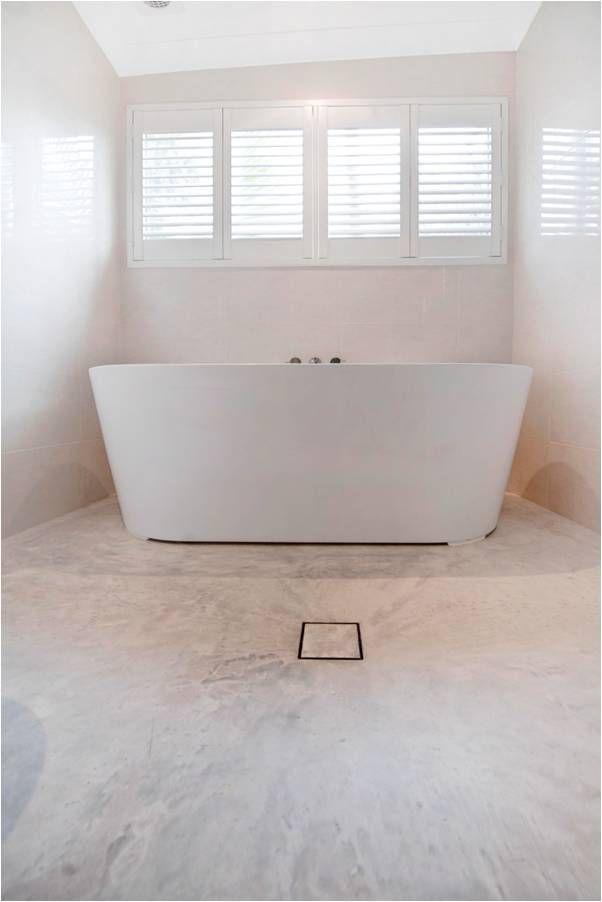 Concrete floor by @concreateau in 'Wild Rice' #concrete #flooring #bathroom #concreate