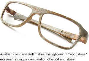 Info about eyeglass frame materials plus some unusual materials you may not have heard of
