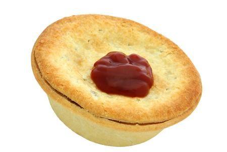 Mince pie and tomatoe sauce. #Kiwiana