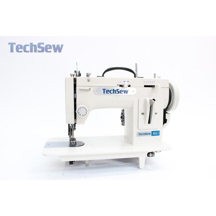 white industrial sewing machine