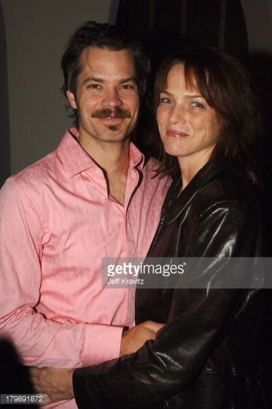 Tim and his wife years ago when he was filming Deadwood.