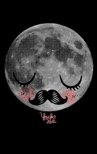 Und diesen traurigen Mond trägt unser Bassist auf dem Bauch.  #yackfou #moon #maximiliantischler #cupcakes