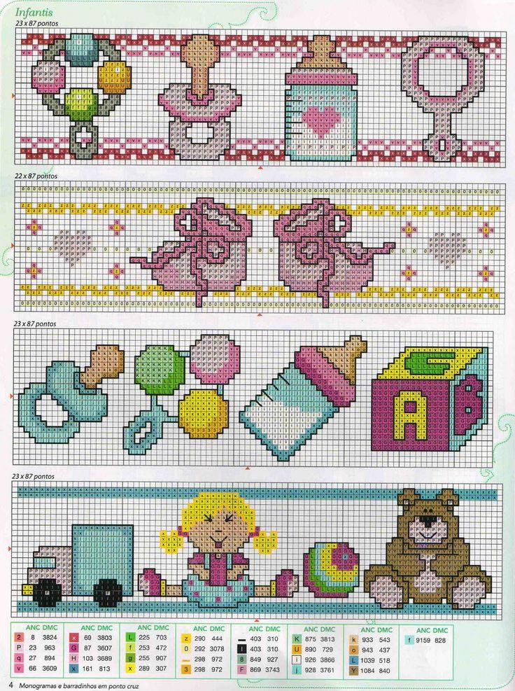 Meus Pontinhos (Ponto cruz e Gráficos): Gráficos de Bebê                                                                                                                                                                                 Más