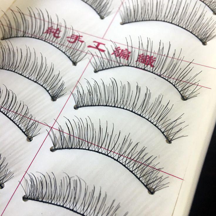 10 Paia Ciglia Finte Naturali Per Le Donne Trucco Ciglia Strumento di Estensione Falso Ciglia Per La Costruzione Voluminoso Cosmetici