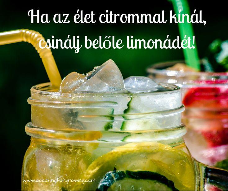 Ha az élet citrommal kínál, csinálj belőle limonádét. Cselekedj. Coaching.