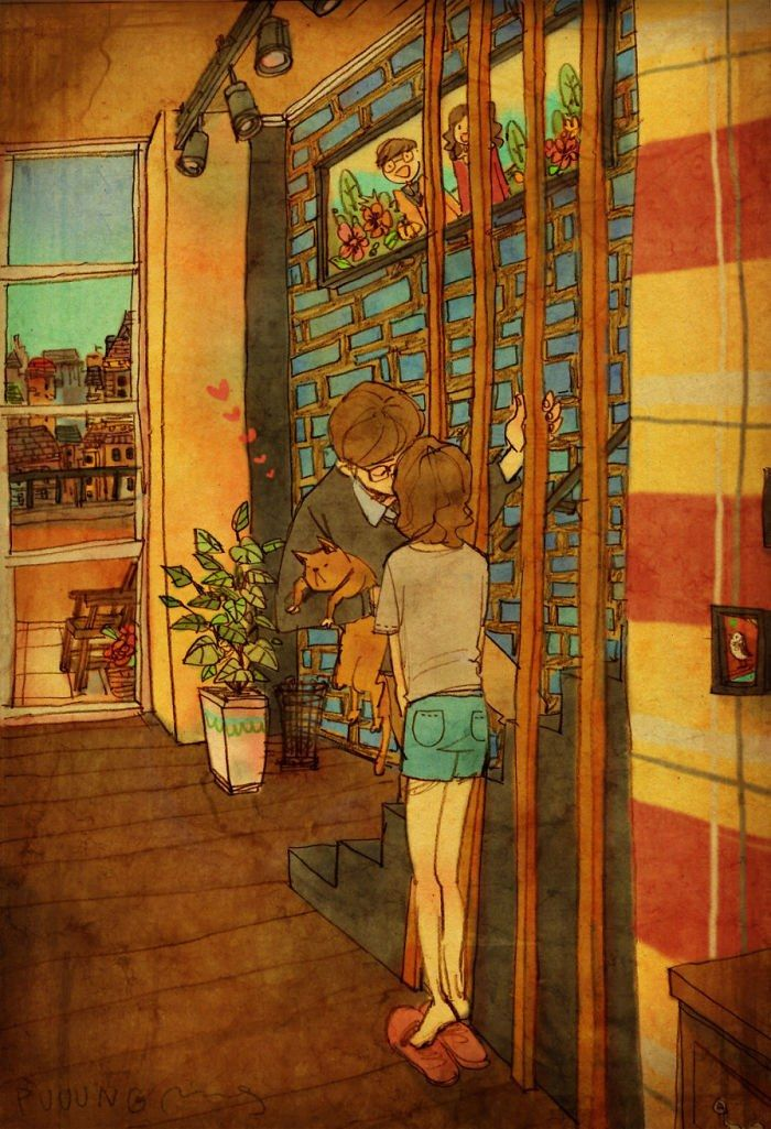 Puuung's beautiful depictions of real-life love.