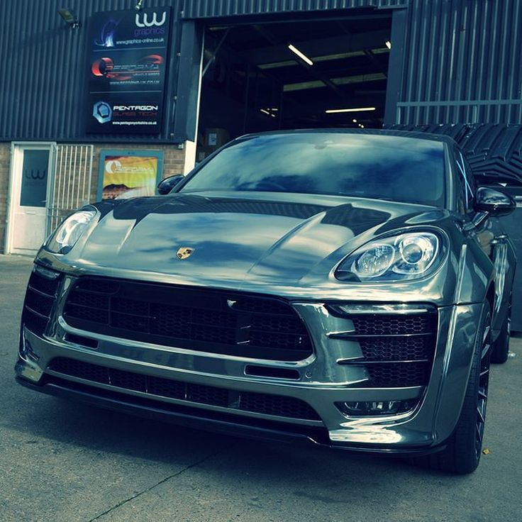 Awesome #Porsche Macan wrapped in chrome silver wrap. Great work by @reformauk #MakeitStick #PaintisDead