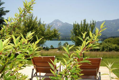 Einfach einmal nichts tun und die Aussicht genießen. Bio-Naturhotel Faakersee, Nichtraucherhotel am Faaker See in Kärnten