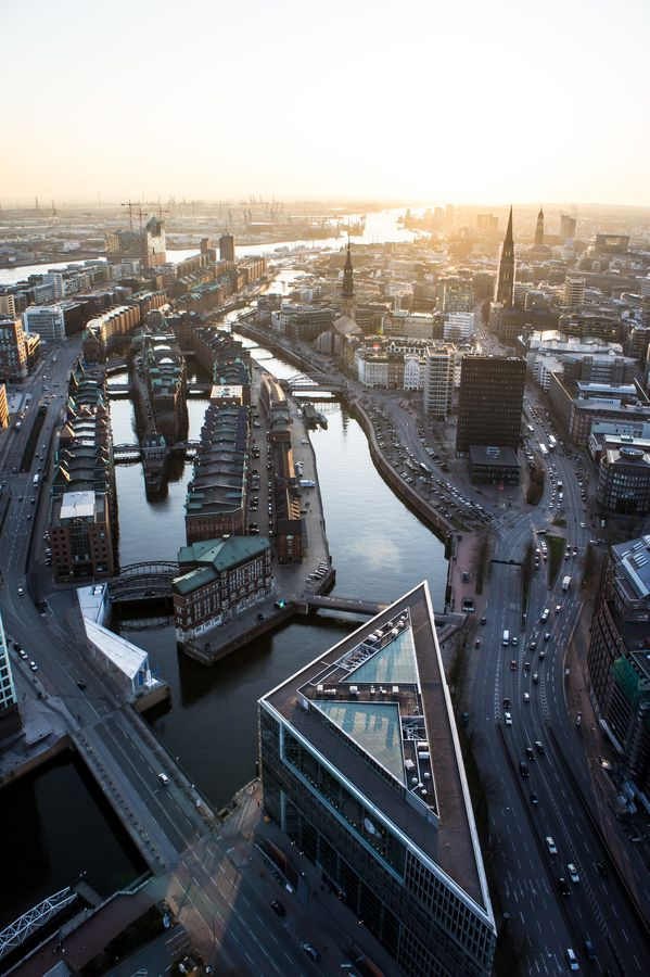 Highflyer Hamburg (Altstadt) - from above. Unfortunately, the Highflyer ist…