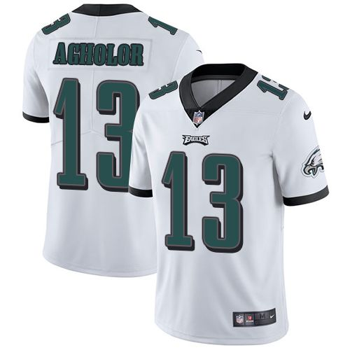 Youth Nike Philadelphia Eagles #13 Nelson Agholor Limited White NFL Jersey
