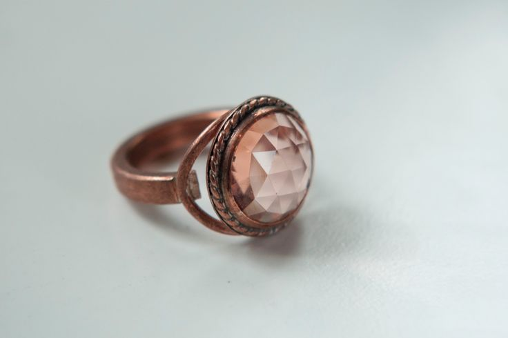 Ring - copper and synthetic stone