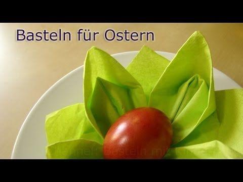 Basteln für Ostern: Osternest basteln mit Servietten - Osterdeko selber ...
