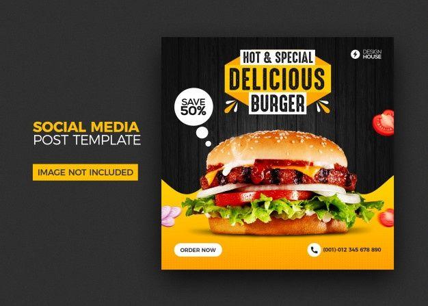 Food Menu And Restaurant Burger Social M Premium Psd Freepik Psd Banner Food Menu Sale Food Menu Burger Food