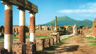 Pompeii - a city frozen in time by the eruption of Mount Vesuvius. Many VJV tours of Italy include a visit to Pompeii; visit http://www.vjv.com/destinations/europe/italy-tours/index.html for further details.