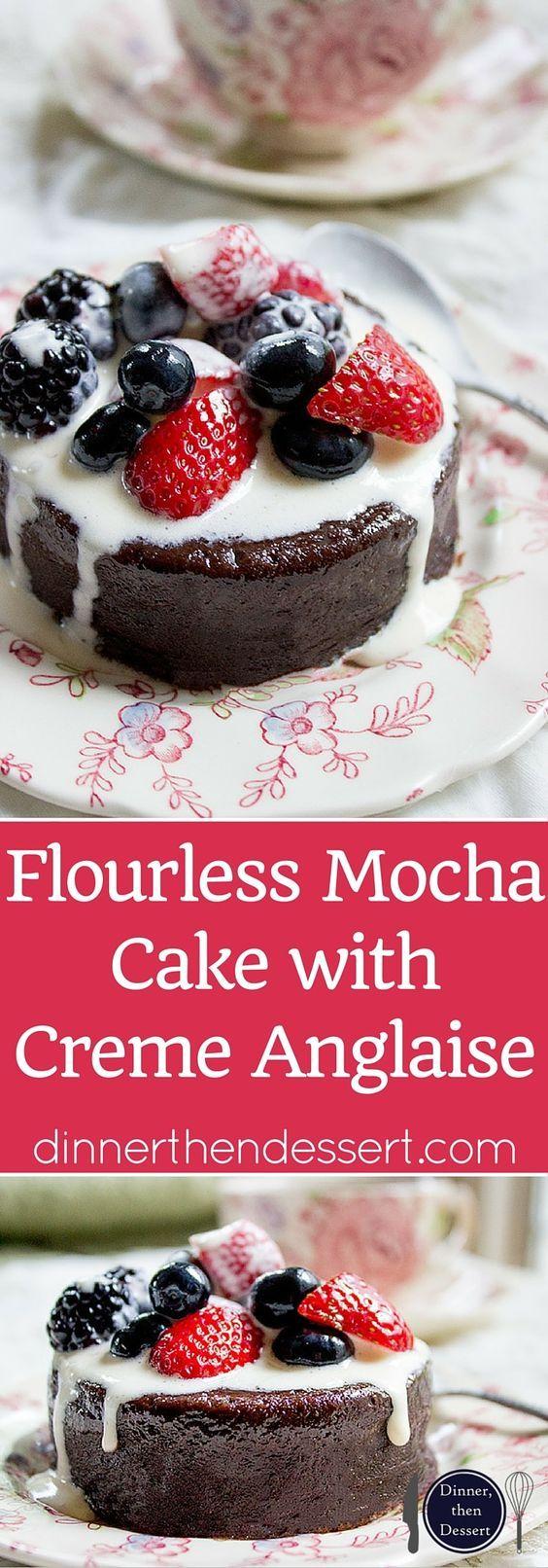 Flourless Mocha Cake with Creme Anglaise | Recipe | Mocha Cake, Best ...
