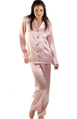 Womens Pink Satin PJs