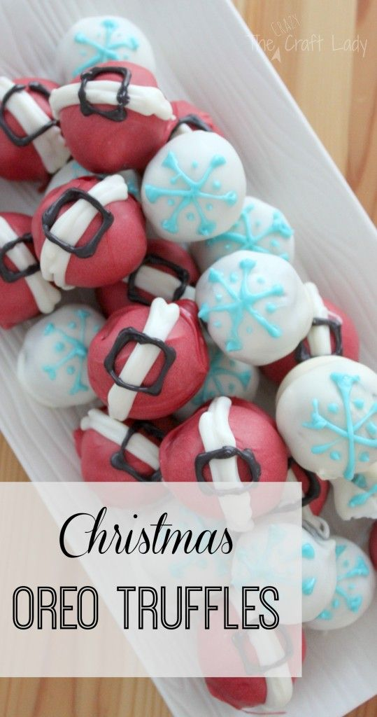 Christmas Oreo Truffles - Santa's Belts and Snowflakes