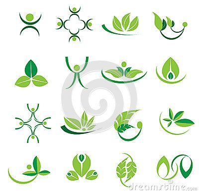 Vector Green Leaves Logotype Icons, Ecology, Welness Designs - Download From Over 56 Million High Quality Stock Photos, Images, Vectors. Sign up for FREE today. Image: 88991851
