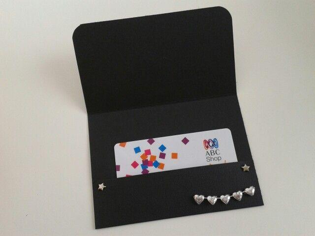 Gift card holder,inside.