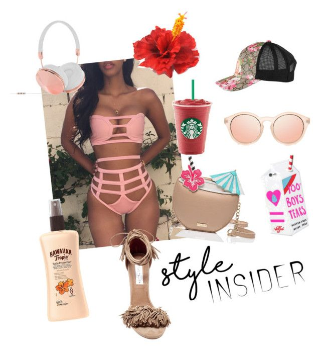 """""""Style Insider"""" by slang-bait on Polyvore featuring Kate Spade, Steve Madden, Frends, Valfré, Gucci and Hawaiian Tropic"""