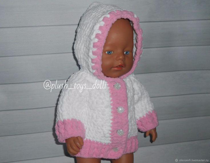 Курточка для кукол Беби бон из плюшевой пряжи. Мастер класс – купить в интернет-магазине на Ярмарке Мастеров с доставкой