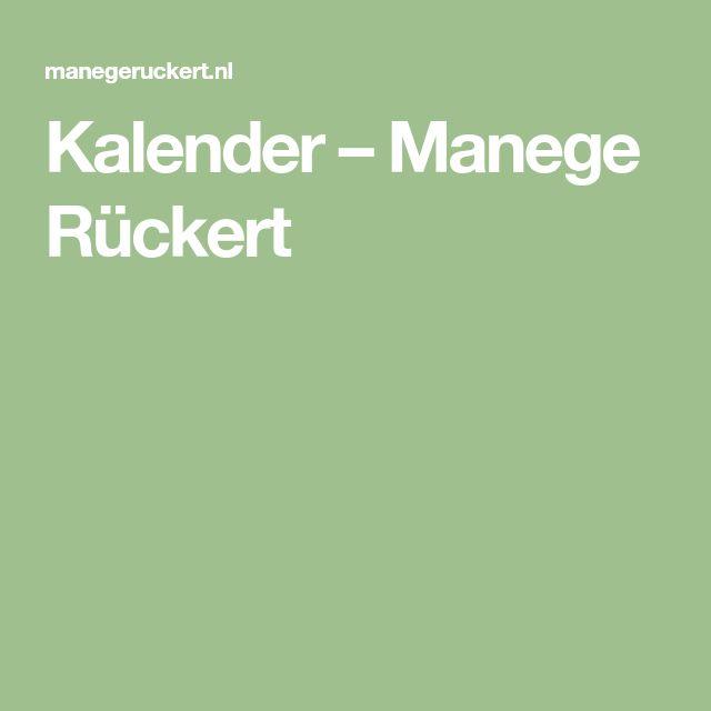 Kalender – Manege Rückert
