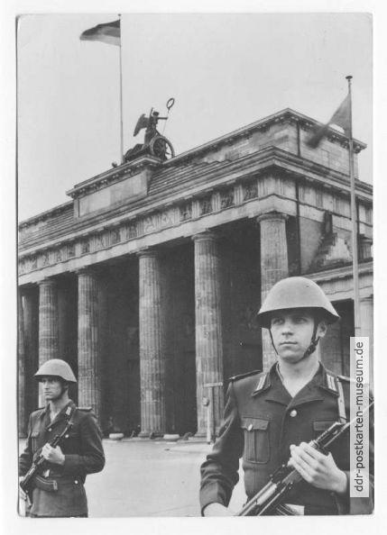 Grenzsoldaten der NVA am Antifaschistischen Schutzwall - 1964