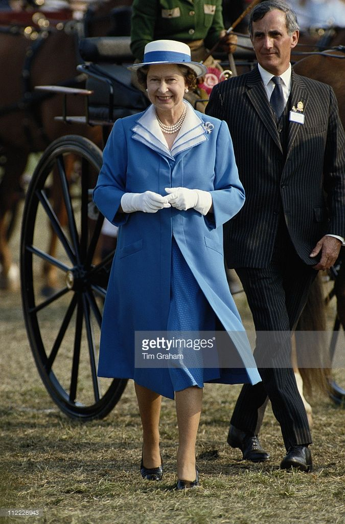 Queen Elizabeth II attending the Royal Windsor Horse Show, held at Home Park in…