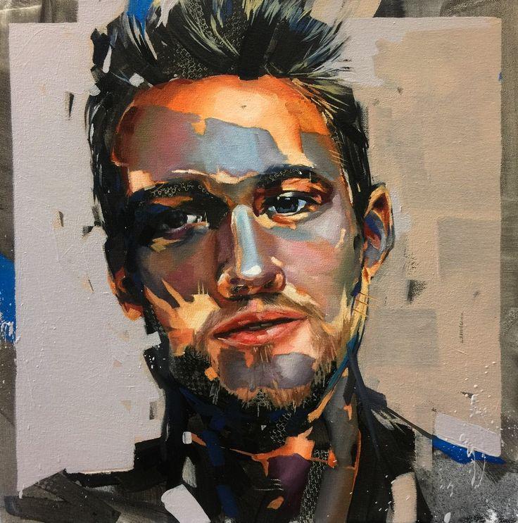 """The Amalgamator"" an original artwork by Corne Eksteen. Oil on canvas, 500 x 500mm, 2015."