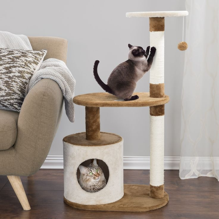 "Petmaker 3-Tier 37.5"" Cat Tree Condo"