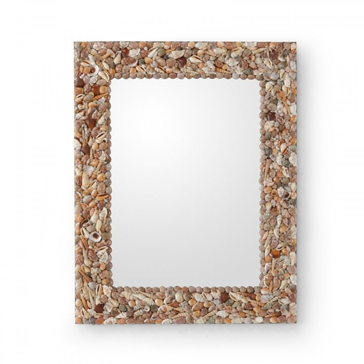 Wildwood SHELL FRAME MIRROR REAL SHELLS IN NEUTRAL COLORS