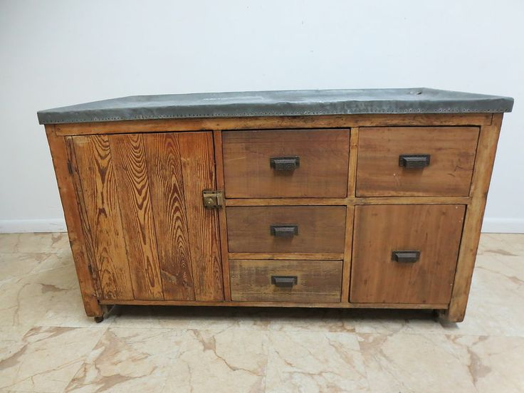 Antique Primitive Zinc Top Dry Sink Cabinet Cupboard Sideboard - 238 Best Dry Sinks Images On Pinterest Sinks, Fall And Furniture