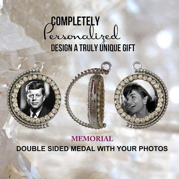 MEMORIAL medal with your photos  Custom Double Side Medal