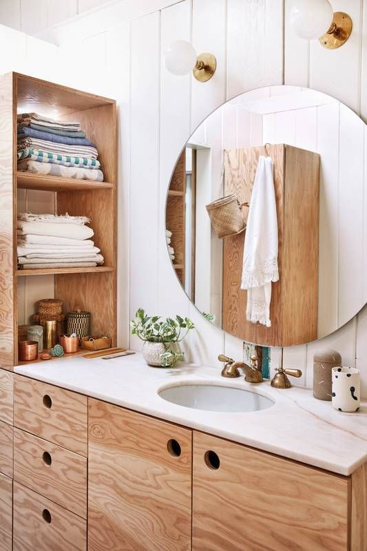 Keep your bathroom counter tops clear! Avoid clutter for a fresh feel. Rising Barn's smart-sized designs are simple yet chic for vintage-contemporary vibes.
