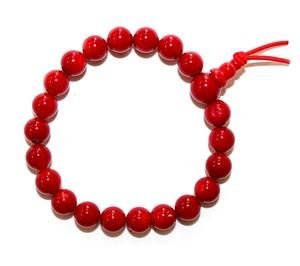 Red Ceramic Beaded Bracelet