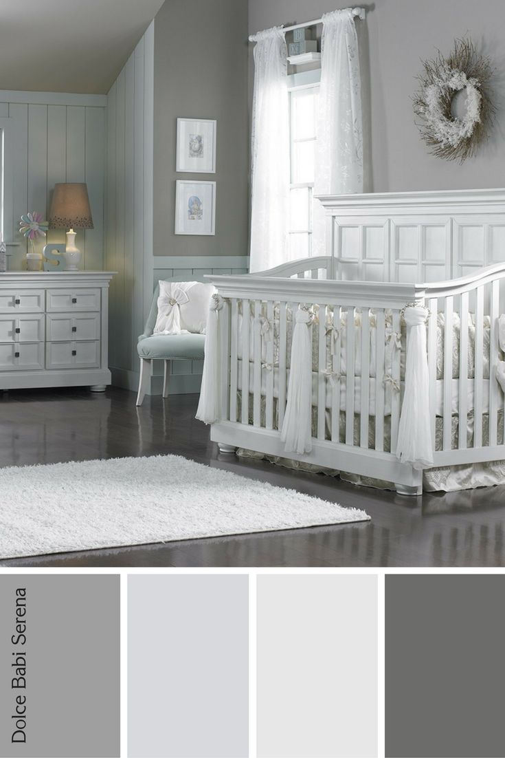 Dolce Babi Serena Furniture Provides A Chic Look For This Calm Nursery.  Neutral Tones Keep It Feeling Vintage.