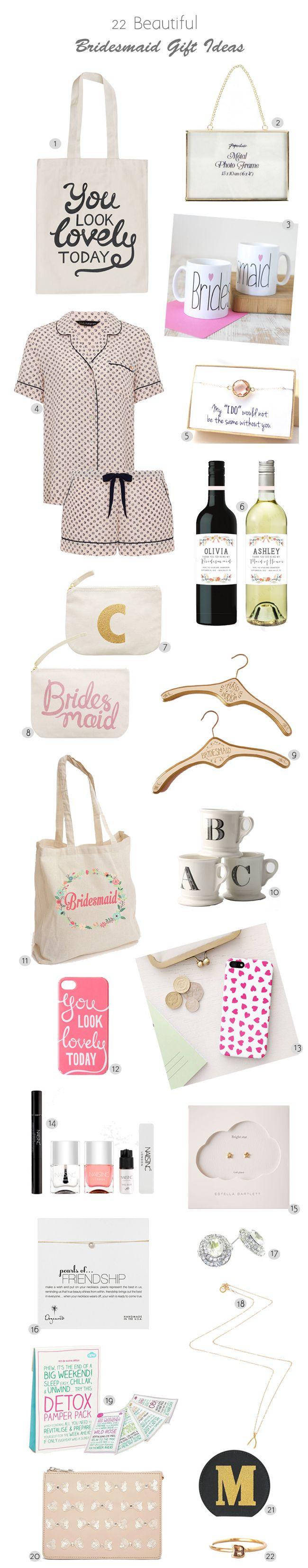 22 Beautiful Bridesmaid Gift Ideas | weddingsonline