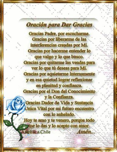 SUEÑOS DE AMOR Y MAGIA: Oración para dar Gracias a Dios.