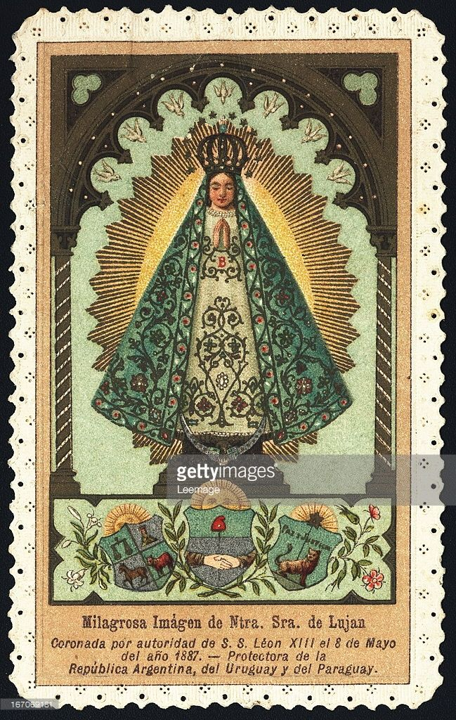 News Photo : Our Lady of Lujan. Holy card. Private collection.