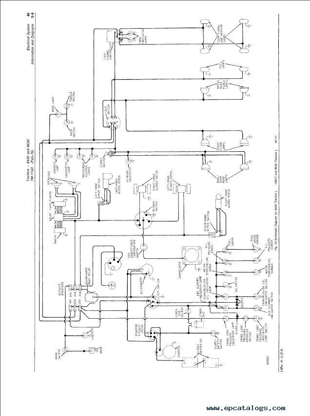 john deere 8430  u0026 8630 tractors tm1143 technical manual