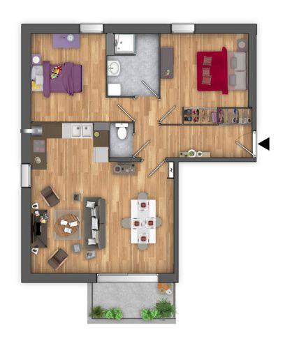 Plan de vente 2D appartement