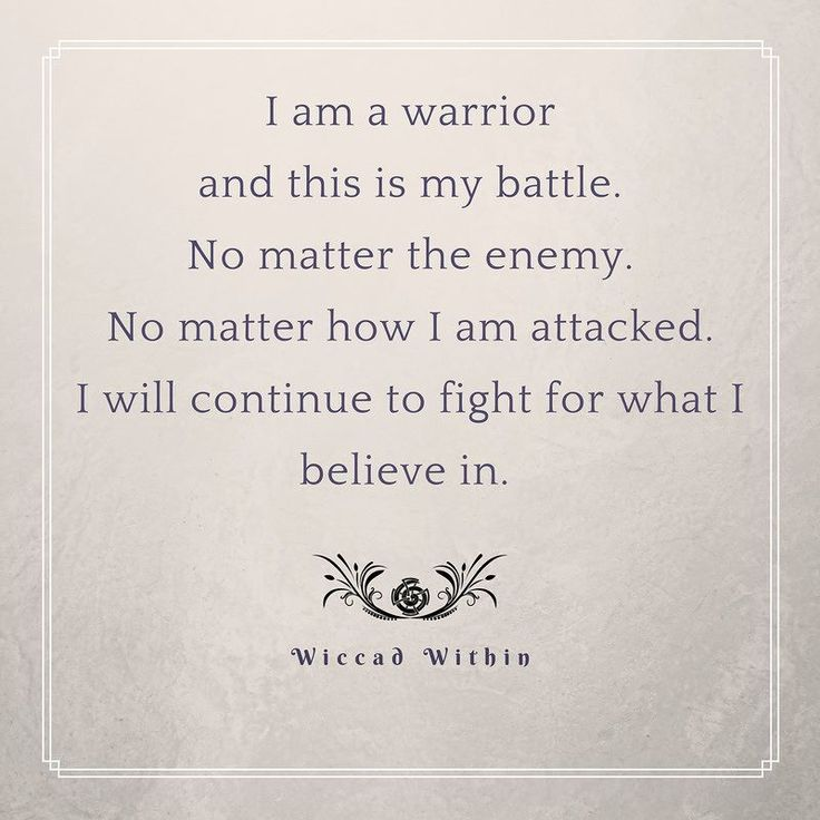 """I am a warrior and this is my battle. No matter the enemy. No matter how I am attacked. I will continue to fight for what I believe in. "" I am so moved today to see so many ready to battle and to fight for what we believe in. We all have a voice and we can make ourselves heard. It's time to fight! #wiccadwithin #motivational #motivationalquotes #inspiration #happythoughts #love #instagood #walkyourtruepath #youarewiccadwithin #motivation #loveyou #womensmarch"