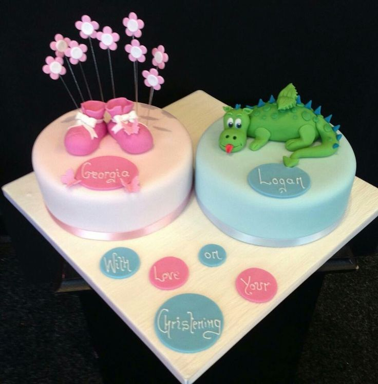 A double Christening , making it pretty and cute