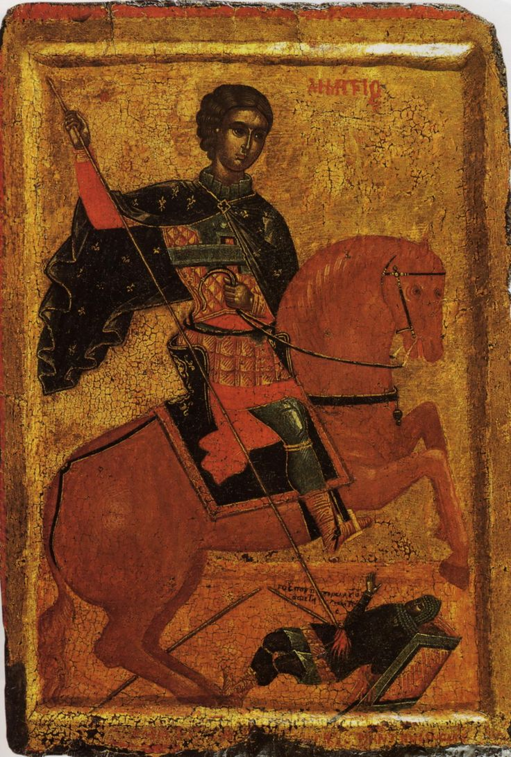 St Demetrios. School of Andreas Ritzos. 1st half of the 16th c. Pushkin state museum of fine arts, Moscow, Russia.