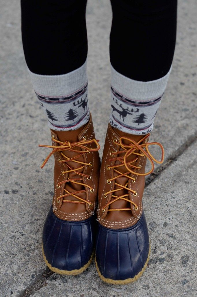 L.L. Bean Boots and these socks are what I would love for Christmas.