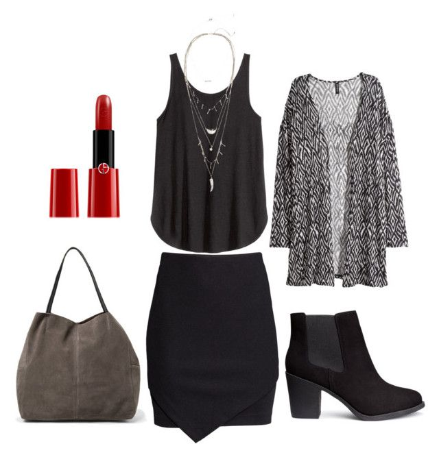 """Lfdos"" by laurrao on Polyvore featuring H&M, MANGO and Armani Beauty"